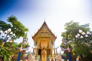 Buddhist temple in island koh Samui, Thailand.