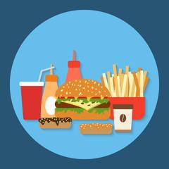 Fast food vector illusration