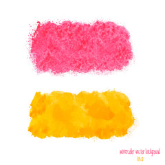 yellow and pink watercolor banner