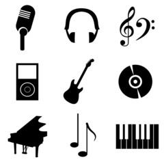 icons music black
