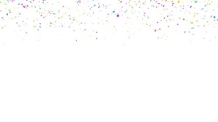 Colored confetti falling with aplha matte