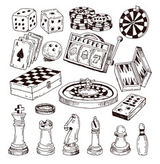 chess piece, hand drawn vector illustration.