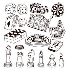chess piece, hand drawn vector illustration.