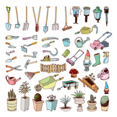 Gardening Tools, illustration vector.