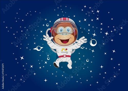 Monkey mascot space - 75472071