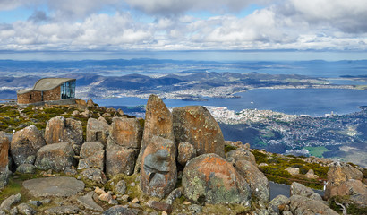 Panoramic View of Hobart from Mount Wellington