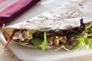 Italian flat bread called piadina
