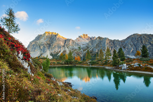 Limides Lake and Mount Lagazuoi, Dolomites - 75473093