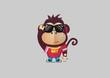 Monkey retro mascot - 75473809