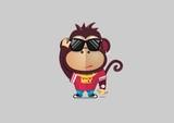Monkey retro mascot