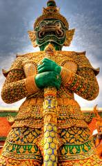 Warrior statue in Bangkok Grand Palace