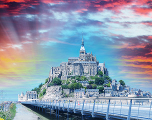Fortress of Mont Saint-Michel, Normandy, France