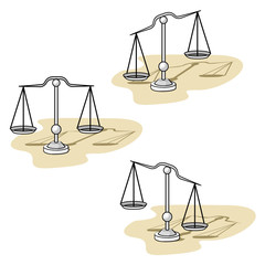 Illustration representing utensil scale object