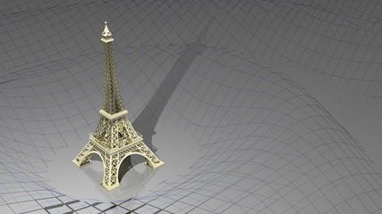 Golden Eiffel Tower