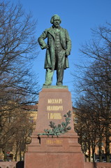Monument to great russian composer Mikhail Glinka