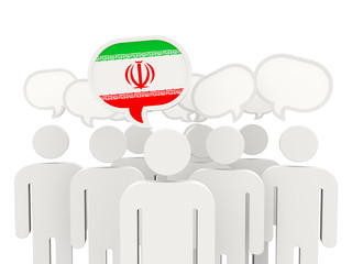 People with flag of iran