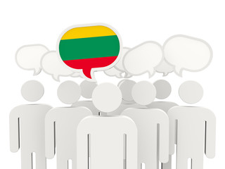 People with flag of lithuania