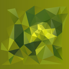 Abstract polygonal pattern on a green background.