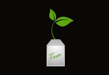 Tea organic drink logo vector