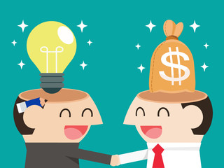 Trading between idea and money