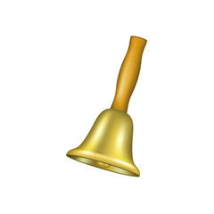 Bell with wooden handle