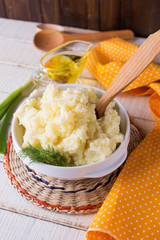 Fresh mashed potato