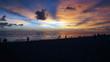 canvas print picture - Sonnenuntergang Strand Florida