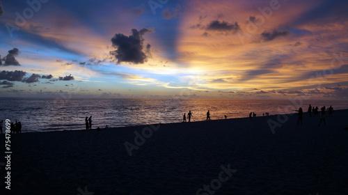 canvas print picture Sonnenuntergang Strand Florida
