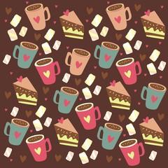 marshmallow cocoa pattern