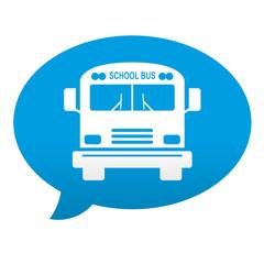 Etiqueta tipo app comentario school bus