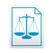 Pegatina simbolo aviso legal