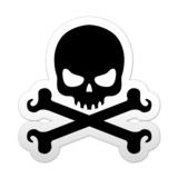 Pegatina simbolo muerte