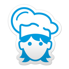 Pegatina simbolo cocinera