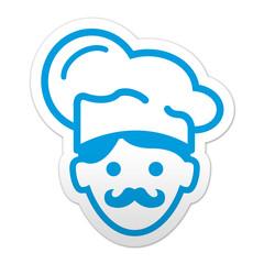 Pegatina simbolo cocinero