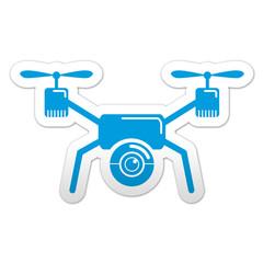 Pegatina simbolo drone