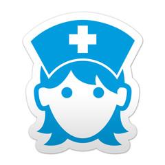 Pegatina simbolo enfermera