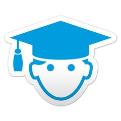 Pegatina simbolo graduado