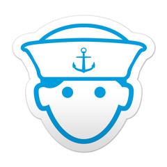 Pegatina simbolo marinero