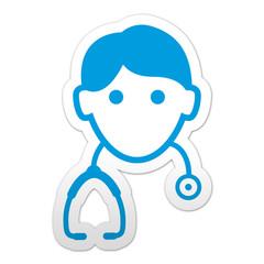 Pegatina simbolo medico
