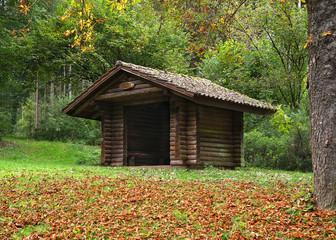 Holzhütte im Wald im Glatter Täle