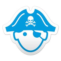 Pegatina simbolo pirata