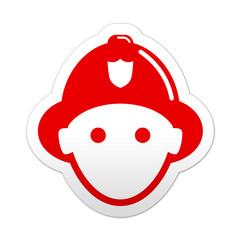 Pegatina simbolo rojo bombero