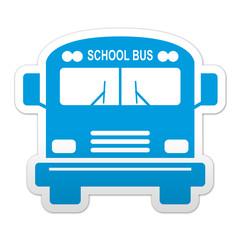 Pegatina simbolo school bus