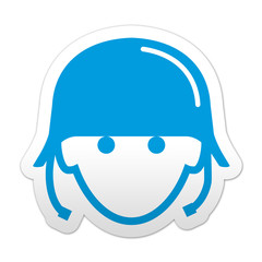 Pegatina simbolo soldado