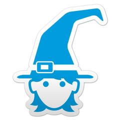 Pegatina simbolo sombrero bruja