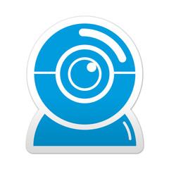 Pegatina simbolo webcam