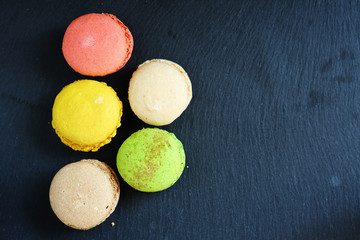 Fresh pastries, colorful macaroon