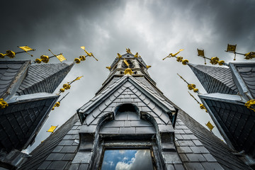 The belfry of Tournai, Belgium.