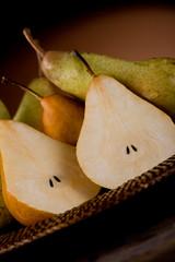 Pears in poor art style