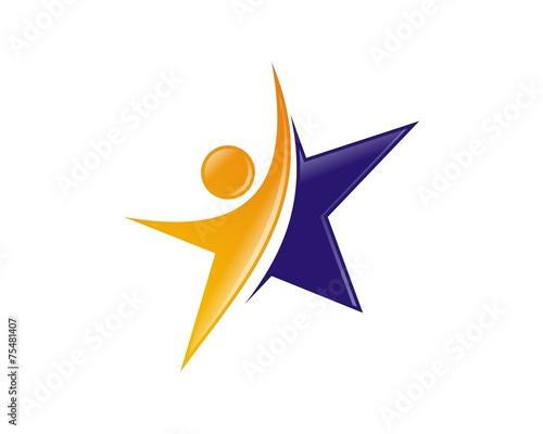 human star logo - 75481407